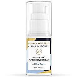 Anti Aging Eye Cream For Dark Circles and Under Eye Bags By Alana Mitchell Skin Care The Best Natural Firming Peptide Eye Cream For Wrinkles, Puffiness – Use Daily As Moisturizer For Eyes and Face